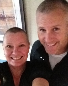 Two Baldies in November 2012 - shaved it off!
